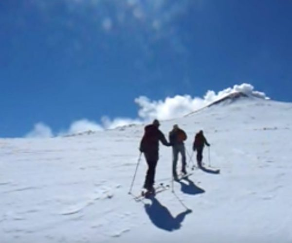 Un vulcano di neve